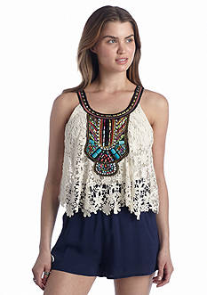 Double Zero Crochet Embellished Romper