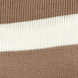 Juniors: Knit Sale: Coffee Double Zero Stripe Knit Top