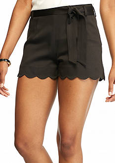 HYFVE Scalloped Hem Short with Tie Waist