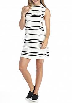 HYFVE Striped Mock Neck Dress