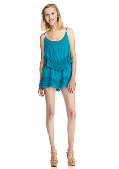 Double Zero Lace Trim Romper