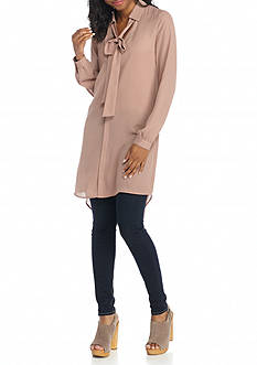 HYFVE Low Bow High Low Long Sleeve Tunic