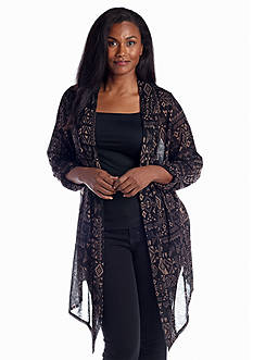 New Directions® Weekend Plus Size Tribal Print Hacci Cozy