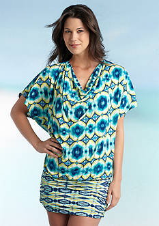 Carmen Marc Valvo African Sunset Cover Up