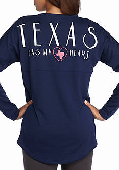Red Camel Texas Has My Heart Sweeper Tee