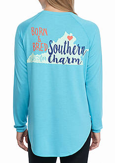 Red Camel Raglan State Southern Charm Virginia Tee