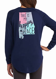 Red Camel This is My Happy Place Alabama Long Sleeve Raglan Tee