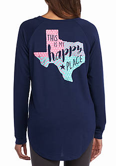 Red Camel This is My Happy Place Texas Long Sleeve Raglan Tee