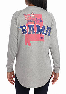 Red Camel Raglan Bow State Fan Alabama Tee