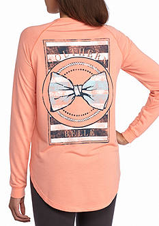 Red Camel Southern Bell Stripe Accent Raglan Tee