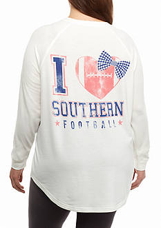 Red Camel Plus Size Southern Football Raglan Sweeper