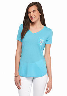 Red Camel Texas Touch Downs Tailgate Pocket Tee