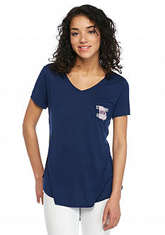 Red Camel 'Straight Out Of ' Georgia State Pocket Tee