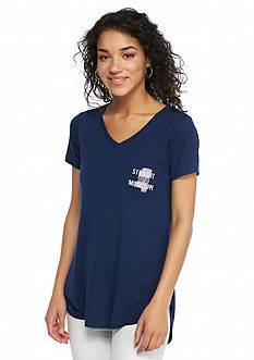 Red Camel 'Straight Out Of ' Mississippi State Pocket Tee