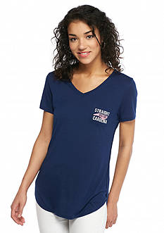 Red Camel 'Straight Out Of ' Carolina State Pocket Tee