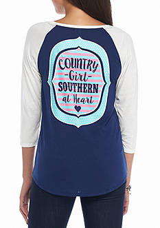 Red Camel Southern At Heart Baseball Tee