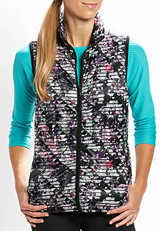 be inspired Strikeout Blooms Printed Puffer Vest