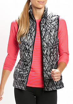 be inspired Printed Optic Trance Puffer Vest