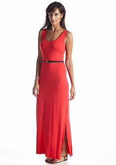 joan vass Belted Tank Maxi Dress