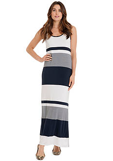 joan vass Sleeveless Easy Tank Maxi Dress