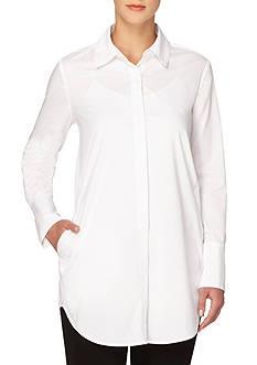 Joan Vass New York Long Sleeve Collared Shirt