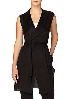 Joan Vass New York Self Tie Belt Vest