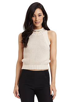 Sam Edelman Cropped Roll Neck Sweater
