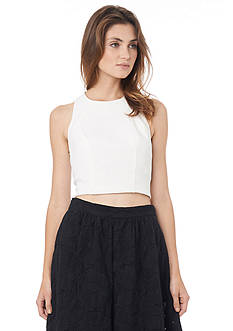 Sam Edelman Solid Cropped Top
