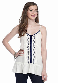 Trixxi Embroidered Drop Waist Tank