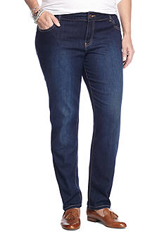 crown & ivy™ Plus Size Stretch Denim Jeans (Short & Average Inseam)