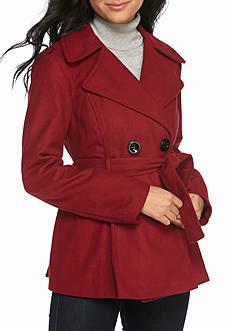 Jackets &amp Coats: Juniors Red Peacoat | Belk