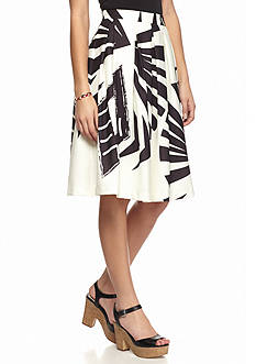Champagne & Strawberry Printed Midi Skirt