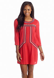 Flying Tomato Embroidered Shift Dress