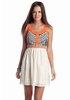 Flying Tomato Embroidered Crochet Dress