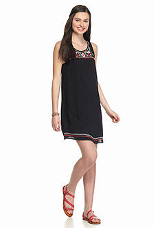 Flying Tomato Sleeveless Embroidered Dress