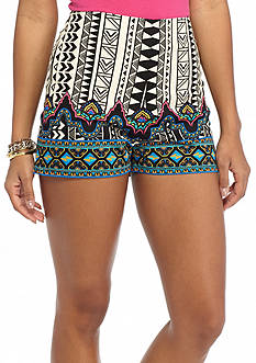 Flying Tomato Printed High Waist Shorts