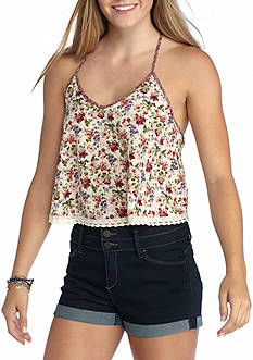 Flying Tomato Strappy Floral Tank