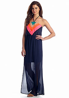 Jealous Tomato Chevron Colorblock Maxi Dress