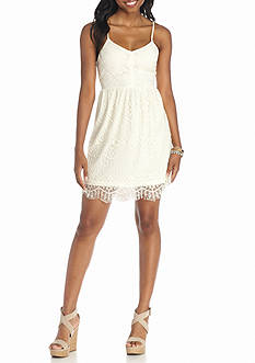 Jealous Tomato Lace Trim Tank Dress