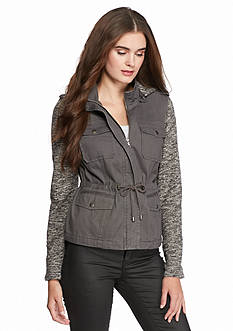 Sebby Twill Jacket With Melange Sleeve