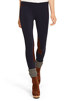 Polo Ralph Lauren Suede-Patch Jodhpur Legging