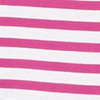 Polo Ralph Lauren Women Sale: Bright Magenta/White Polo Ralph Lauren Striped Cotton Crewneck Tee