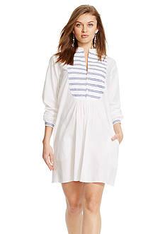 Polo Ralph Lauren Striped-Bib Shirtdress