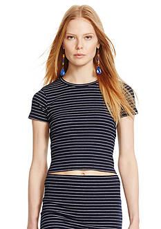 Polo Ralph Lauren Striped Cropped Crewneck Shirt
