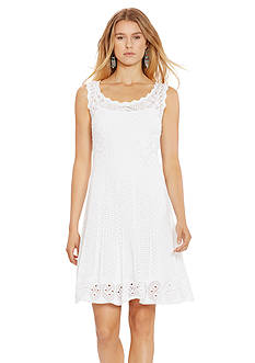 Polo Ralph Lauren Crocheted Cotton Dress