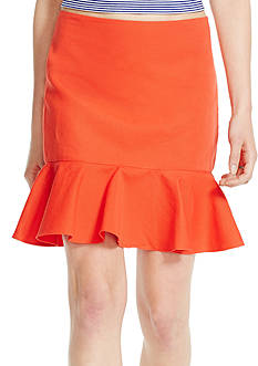 Polo Ralph Lauren Ruffled Stretch Cotton Skirt
