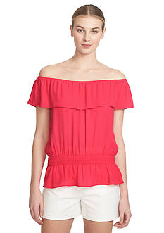 1.State Ruffle Off The Shoulder Top