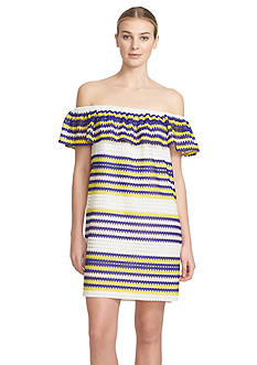 1.State Stripe Ruffle Dress