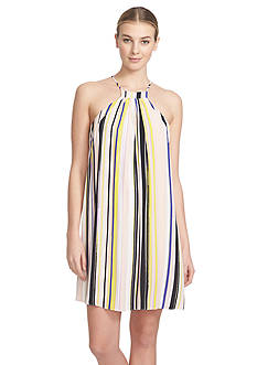 1. State Striped Halter Dress