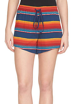 1. State Fiesta Stripe Drawstring Soft Shorts
